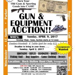 Gun Auction Flyer--April 2017