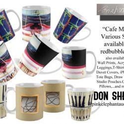 Don Shearer Mugs cafe mugs for redbubble ad  sheet